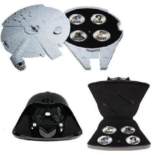 Star Wars OFFICIAL Silver Plated Coin Set with Motion Sensor Sound Storage Case