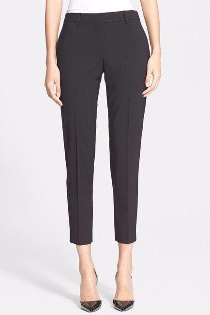 Nuevo con etiquetas Theory  Testra 2B edición Stretch Pantalones De Lana-Tamaño 2 Dobladillo  100% autentico
