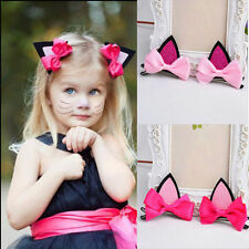 Lovely Cat Ear Hairpin Toddler Girls Hair Clips Barrettes for Kids Fashion SS
