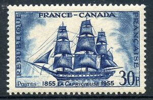 STAMP-TIMBRE-FRANCE-NEUF-N-1035-FRANCE-CANADA-BATEAU-VOILIER