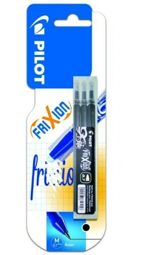 PACK OF 3 9 REFILLS OF PILOT FRIXION BALL 0.7 REFILL BLACK