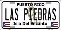 Las Piedras Puerto Rico Metal Novelty License Plate