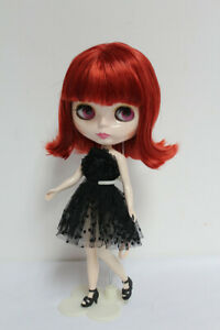 12-034-Neo-Blythe-Doll-from-Factory-Wine-Red-Short-Hair-With-Bang