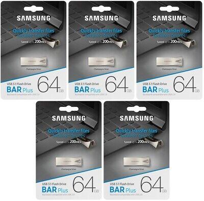 Samsung BAR Plus 64GB USB 3.1 200MB//s Metal Flash Drive MUF-64BE3 Retail