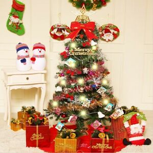 2ft-3ft-Hinged-Artificial-Christmas-Tree-Decoration-LED-Light-Ornament-Home