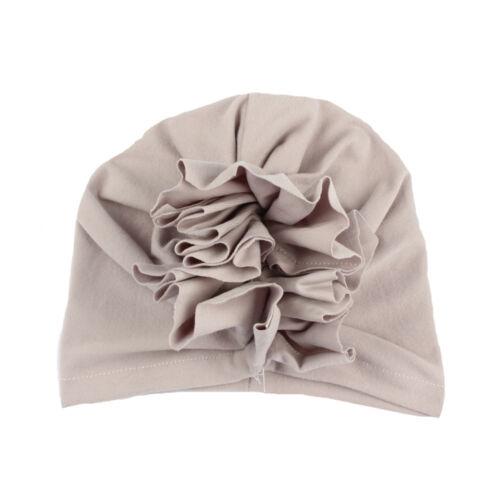 Newborn Baby Infant Girl Toddler Comfy Flower India Cap Adjustable Beanie Hat