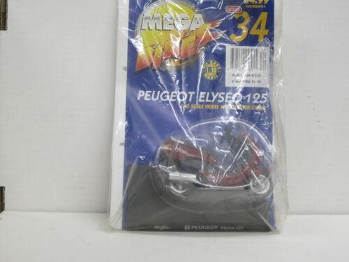 Mega Bikes 34 OVP 1:18 Peugeot Elyseo 125 in dunkelrot Maisto