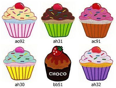 ah31 Törtchen Kuchen Muffin Cup Cake Aufnäher Bügelbild Applikation Patch Kinder