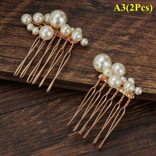 Fashion Haircomb Bridal Headpiece Bride Barrette Pearl Hairpin Comb Hairwear