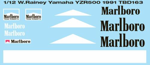 1//12 WAYNE RAINEY YAMAHA YZR500 1991 DECALS TB DECAL TBD163