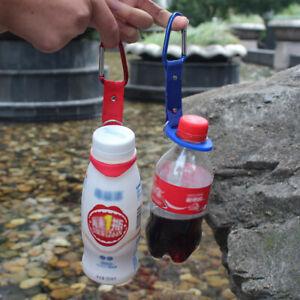 2stk-Flaschenhalter-Schnallenhaken-mit-Karabinerclip-fuer-Outdoor-Camping-Wandern
