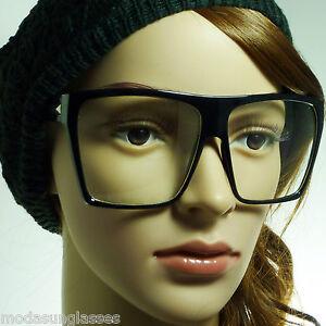 f06831794f8 RETRO Super Oversized Large Men Women Square Frame Clear Lens Eye ...