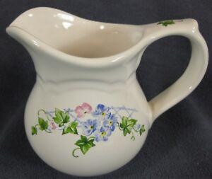 Pfaltzgraff-Annabelle-Creamer-Pitcher-8-oz-Floral-Stoneware