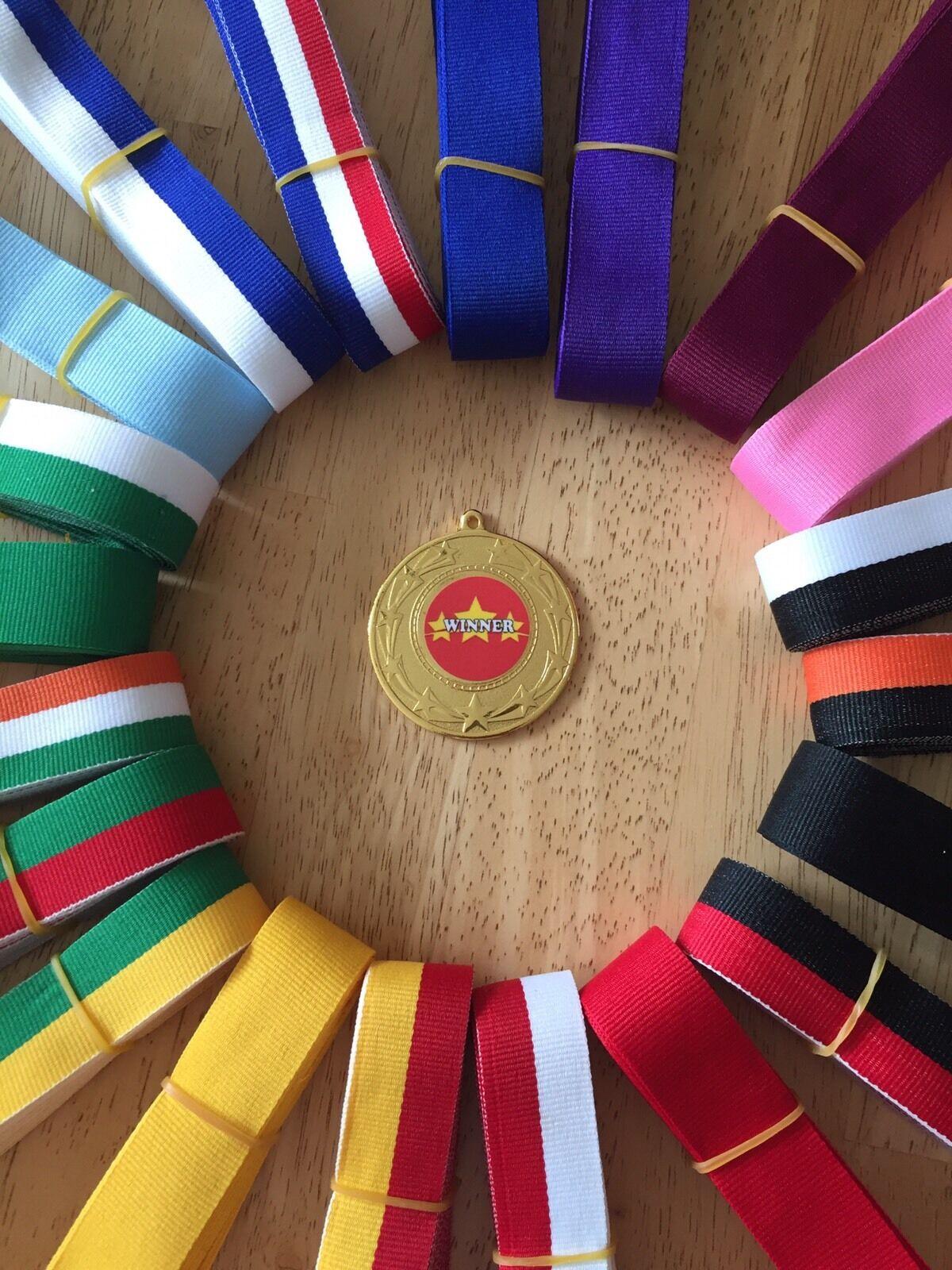 10x vainqueur, Tous Sports médailles 50 mm Choix de rubans rubans rubans de Grande Valeur!!! VRAC ACHETER 2ceaf6