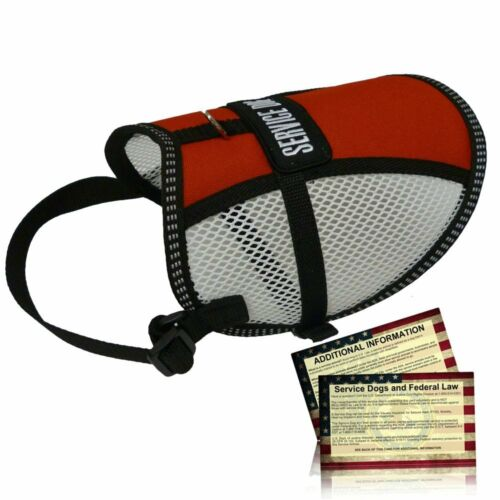 Flow-tec Mesh Service Dog Vest w// 5 Free Service Dog Info Cards Made in USA