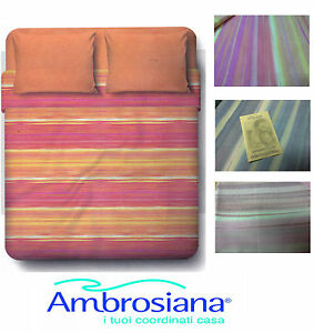 Completo-letto-Lenzuola-100-Cotone-AMBROSIANA-6161-Singolo-e-Matrimoniale