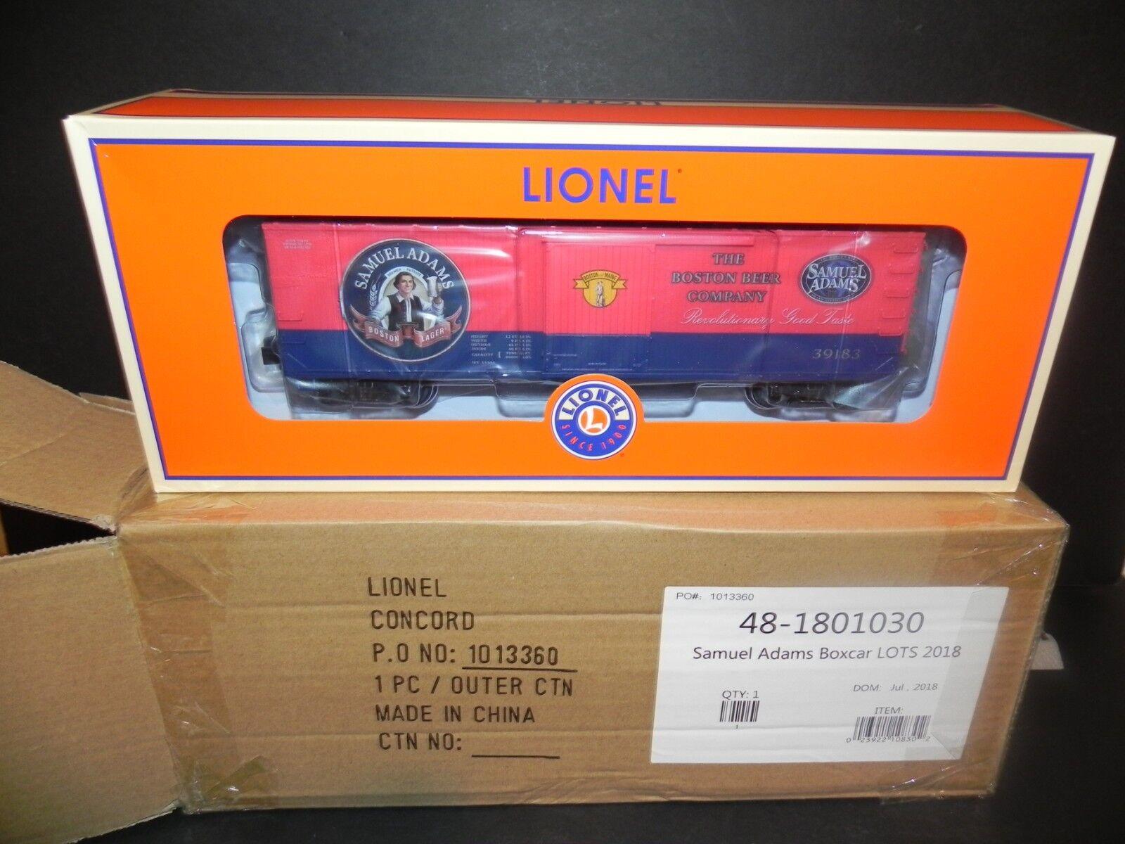 LIONEL 1801030 SAMUEL ADAMS BEER BOXCAR ~ UNCATALOGED LOTS SPECIAL - Free SHIP