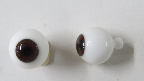 Yeux  poupée ancienne Marron 18mm  Brown mouth blown eyes for antique doll