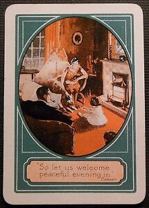 ART-DECO-FAMILY-DOG-in-LIVING-ROOM-UK-GAS-ADVERTISING-WIDE-SWAP-PLAYING-CARD