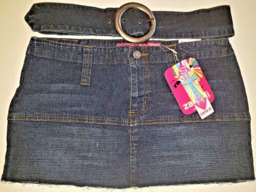 Size 13 Style #JK0396RC4 Zana Di Jeans Stretch Mini Skirt with Removable Belt