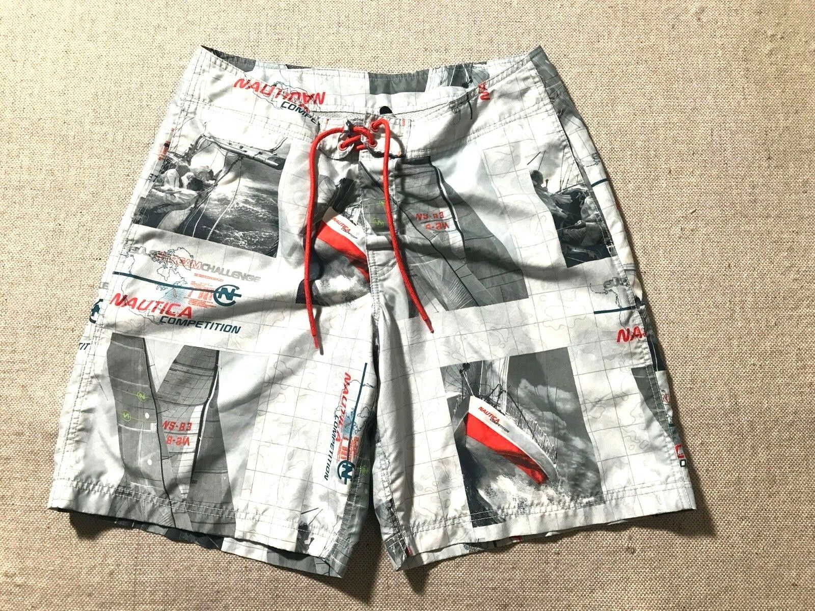 RARE NAUTICA Competition Men's Swim Shorts Trunks Board shorts Size 32W  B7
