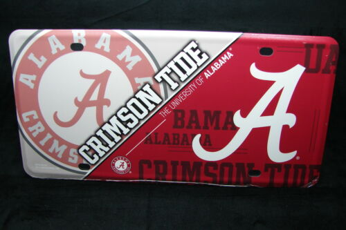 THE UNIVERSITY ALABAMA CRIMSON TIDE NOVELTY METAL LICENSE PLATE TAG FOR BIG AL
