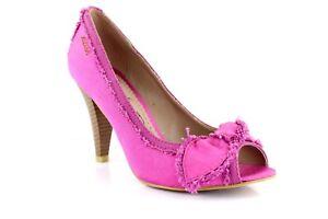 Miss-Sixty-senora-pumps-clasica-de-salon-Peep-Toe-tacon-alto-bucle-Pink-EUR-37