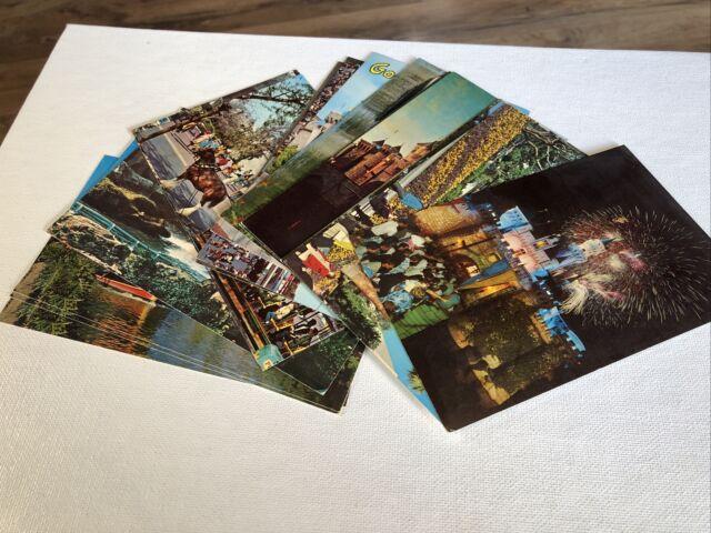 Lot (17) Disney Disneyland CA Souvenir  Postcard Tomorrow Adventure Fantasy Land