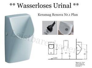 Neuheit Keramag Renova Nr1 Plan Urinal Weiß Wasserlos 235170 Ebay