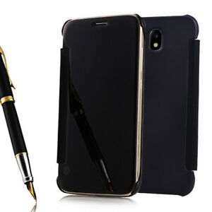 Etui-Coque-Miroir-Clair-en-Plastique-Rigide-Livre-Samsung-Galaxy-J7-2017-J730F
