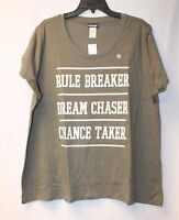 Womens Plus Size 3x Rule Breaker Chance Taker Dream Chaser Tee Shirt Top