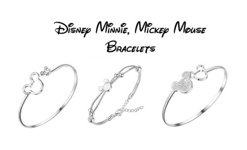 Fast /& Free Post Mickey Mouse Silver Plated Bangle Bracelets Disney Minnie