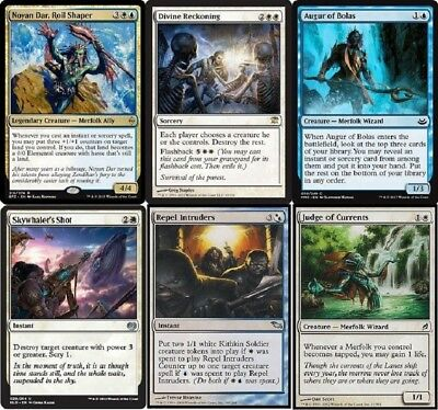 Harbinger Tides Merfolk Blue Deck Sovereign  MTG Magic Gathering 60 cards