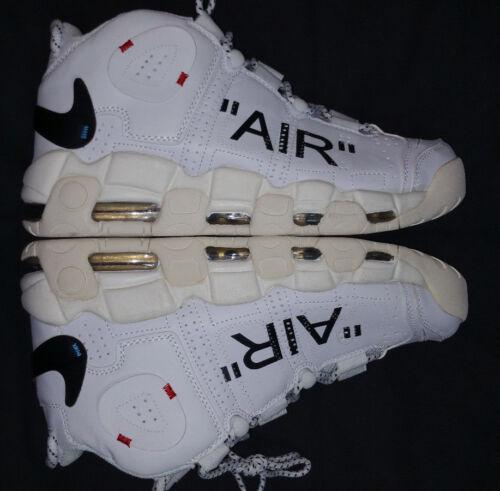 Men Off blanco Us Uptempo roto Ten The Size White Negro 10 Rare More Nike Air tvqXwF