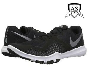3d80e03d272b4 Nike Flex Control 2 WIDE 4E AQ9712-010 Black Grey White Men s Shoes ...