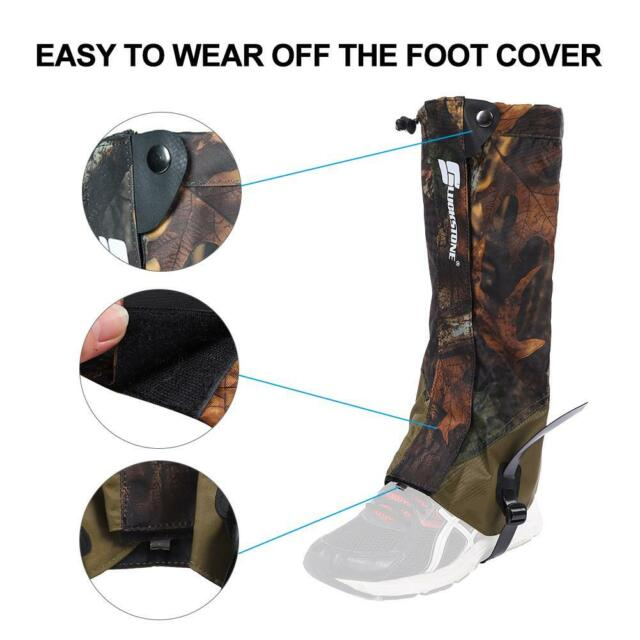 2* Waterproof Outdoor Hiking Climbing Walking Hunting Snow Gaiters Legging
