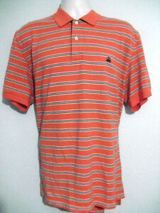 Brooks-Brothers-Men-039-s-Pink-amp-Blue-Stripe-Mesh-Cotton-Casual-Polo-Shirt-XL-XLarge