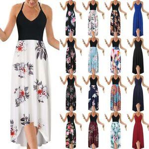 Long-Maxi-Casual-Cocktail-Boho-Summer-Dress-Party-Women-039-s-Beach-Evening-dresses