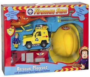 Fireman-sam-Secours-Jeu-Figurines-Casque-Helicoptere-Jupiter-Moteur-Vehicule