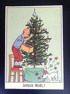 Ancienne-carte-postale-Casterman-Tintin-BE-a-TBE-neige