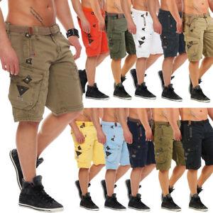 Geographical Norway Uomo Cargo Shorts Pantaloni Corti Short Bermuda cintura estate