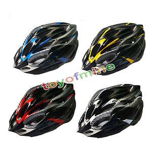 Road-Bike-Racing-Bicycle-Cycling-Helmet-Visor-Adjustable-Carbon-White