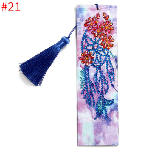 DIY Bookmark 5D Diamond Painting Embroidery Kit Craft Tassel Book Mark Art Gifts