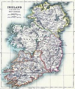 Map Of Ireland Poster.Ireland Map Irish Vintage Painting Travel Poster Print Art For Glass