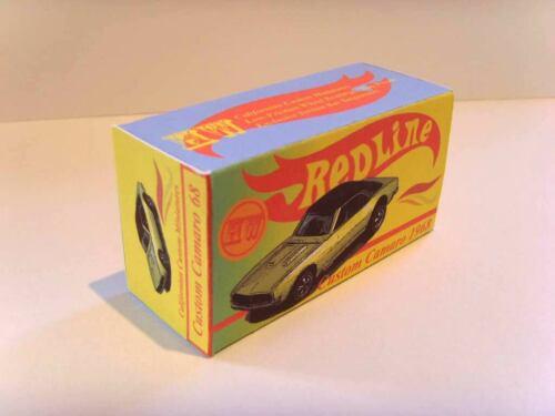 /'CUSTOM CAMARO/' original custom display box HOT WHEELS REDLINE Superb