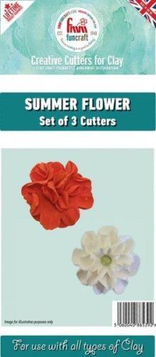 FMM Funcraft SUMMER FLOWERS CUTTER FUNSUMFLW Lifetime Guarantee 3 Cutters