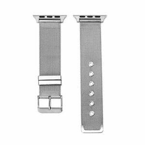 Para Apple Watch Series 4 42mm Pulsera de reloj de acero inoxidable milanesa