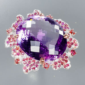 Amethyst-Ring-Silver-925-Sterling-Handmade-35ct-Size-8-5-R133287