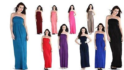 Mrs Hinch Favourite ladies Sheering Maxi Dress Maxi Boob Tube Celebrity Choice