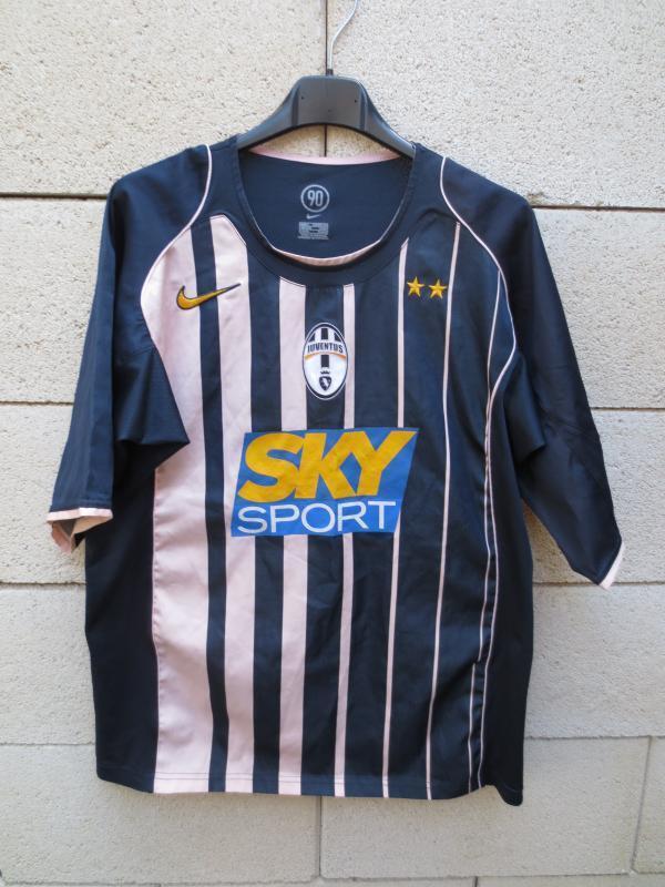 VINTAGE Maillot JUVENTUS TURIN maglia NIKE away pink black ancien S M shirt